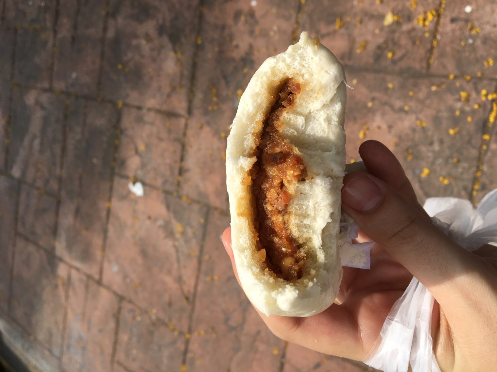 vegan street food in penang - steamed peanut buns