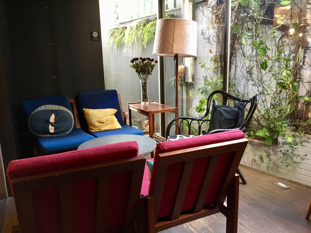 cozy nook at ecole cafe in taipei