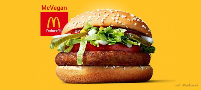 McDonald's Inicia Teste Com Venda De Sanduíche Sem Nada De Origem Animal Chamado 'McVegan'