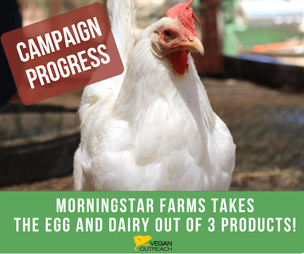 Campaign Progress - Morningstar Farms takes the egg and dairy out of 3 products
