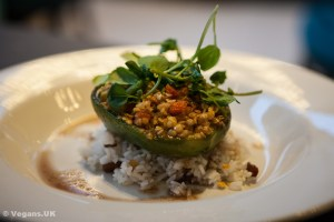 Stuffed roast peppers