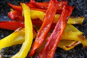 Red and yellow peppers are my favourite