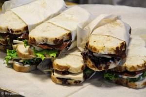 ...and vegan steak sandwiches.