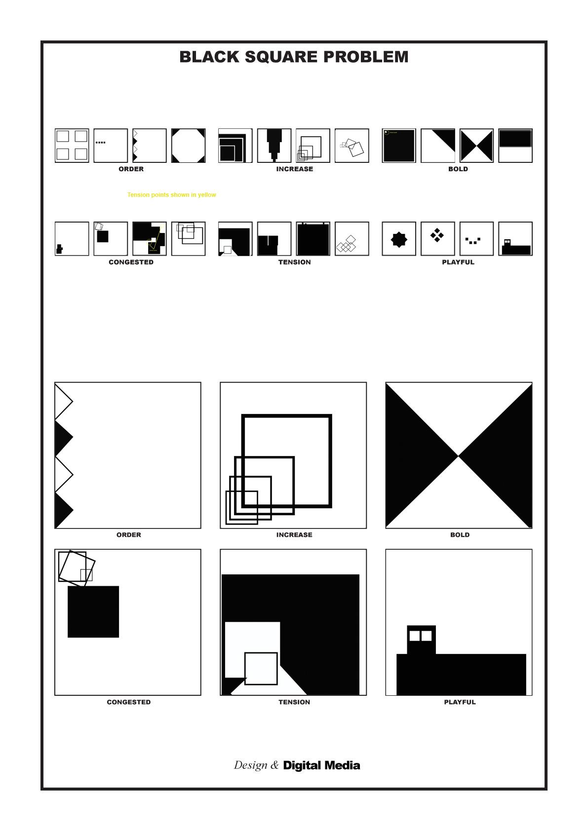 Black And White Square Problem