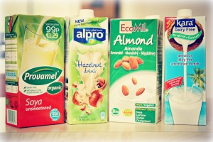 sojove, ryzove a orechove mlieka