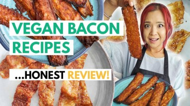 I Tried 3 VIRAL VEGAN BACON RECIPES (Gordon Ramsay, Bread Bacon & Rice Paper Bacon)