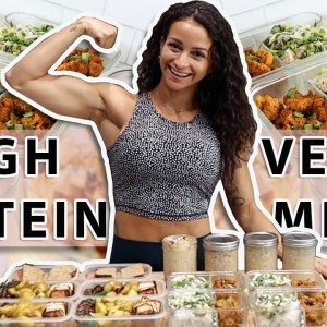 EASY High-Protein VEGAN Meal Prep | Cook With Me