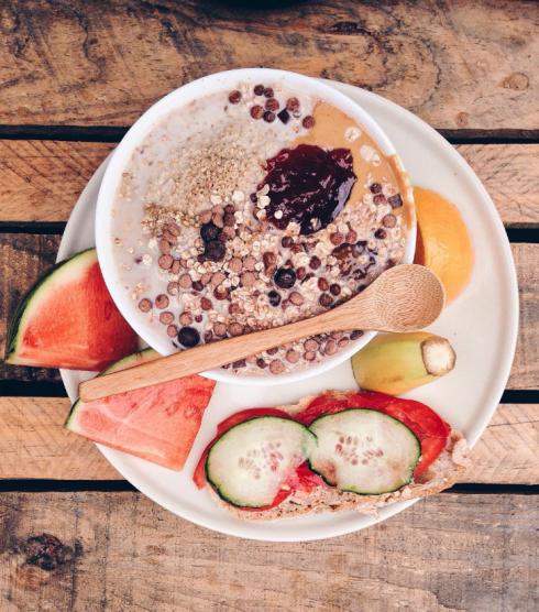 healthy Vegan breakfast