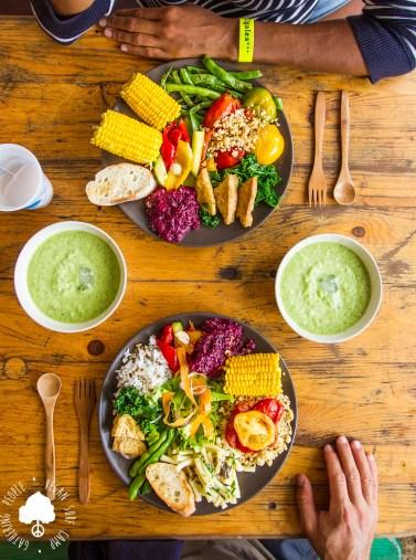 Vegan Dinner double Vegan Surf Camp
