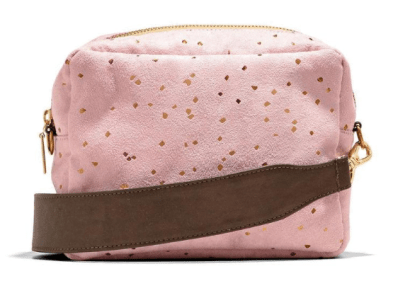 Lee Coren pink vegan crossbody purse