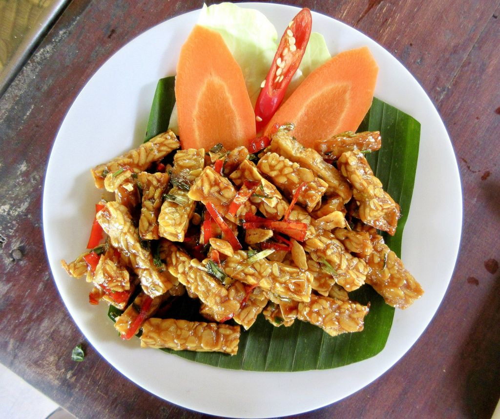 tempeh dish with carrots