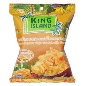 Чипсы King Island кокосовые с карамелью