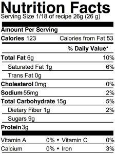 easy vegan peanut butter cookies nutrition info