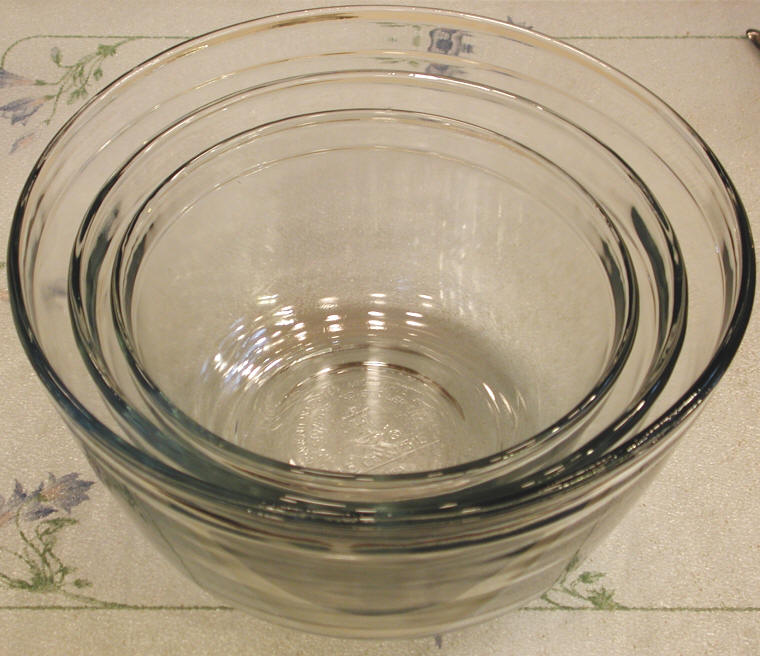 Bowls Glass Baking Mixing and Serving  Cooking