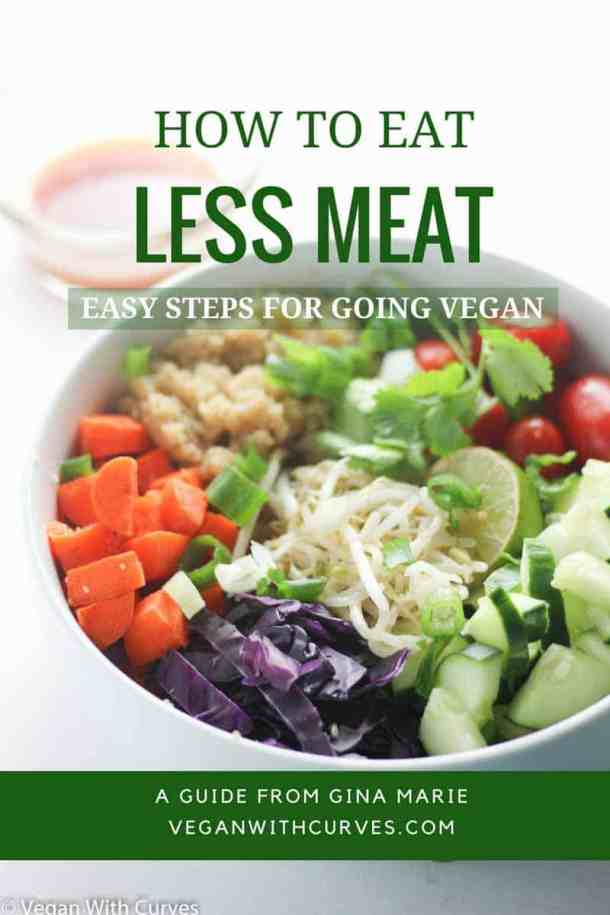Simple, easy practical tips on how to eat less meat. Whether you want to go vegan or just reduce animal product consumption in  your diet.