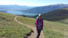 Kirsty leading way to summit Mt Elbert