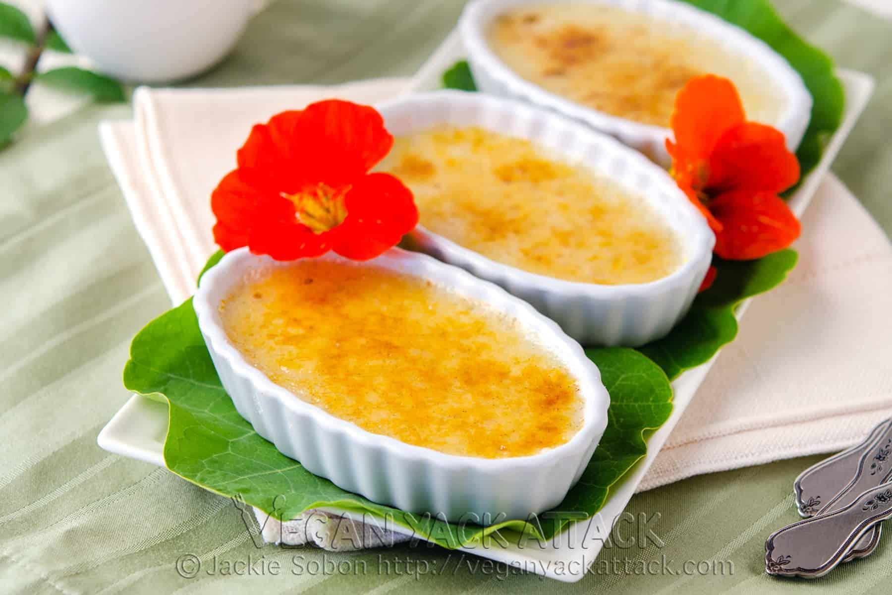 Vegan Vanilla Crème Brûlée