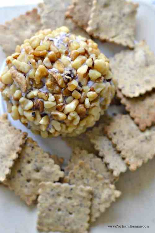 This Cranberry Walnut Vegan Cheese Ball is the perfect appetizer to serve for Superbowl Bowl Sunday or even a nice dinner party!