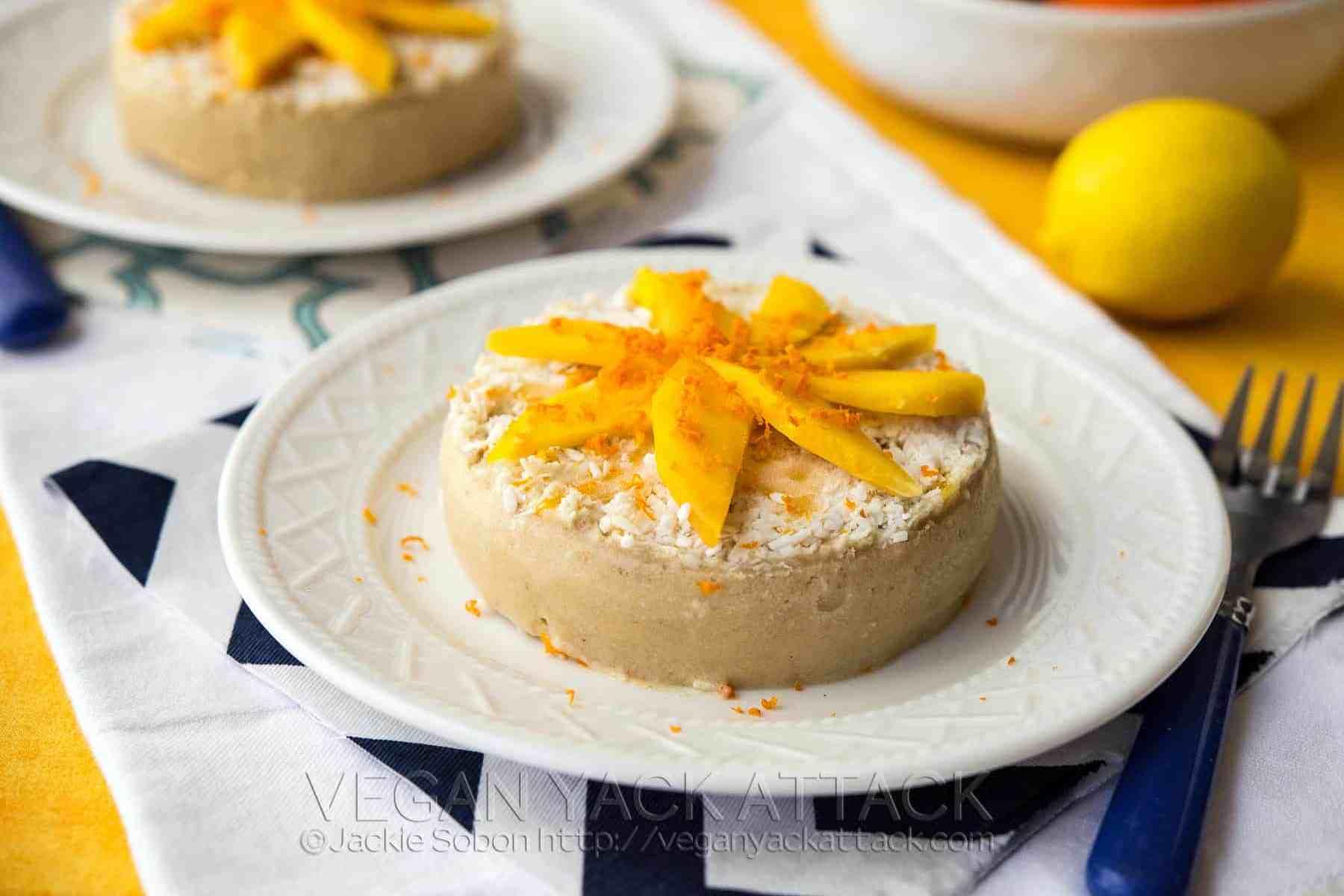 Raw Mango Banana Cakes