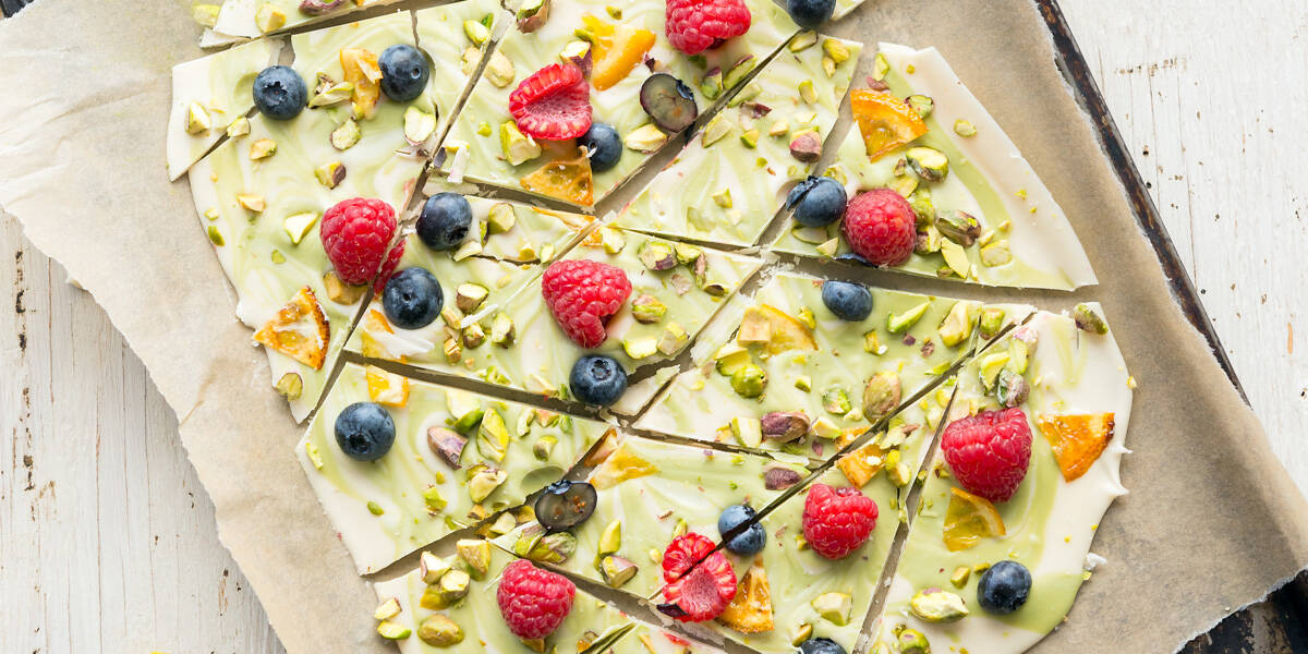 Spring Vegan White Chocolate Matcha Bark