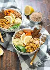 Fall Farro Protein Bowl