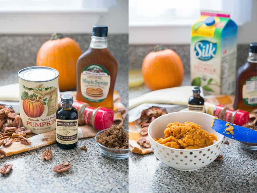 Vegan Pecan Pumpkin Pastries with Easy Maple Glaze - Easier than pie, and great for parties! @VeganYackAttack @Silk #spon