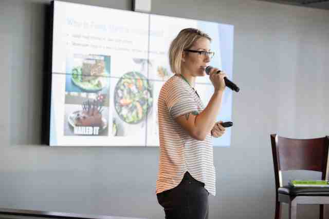 Jackie Sobon of Vegan Yack Attack, hosting a Food Styling Seminar at Seed Summit 2017 - Miami, FL.