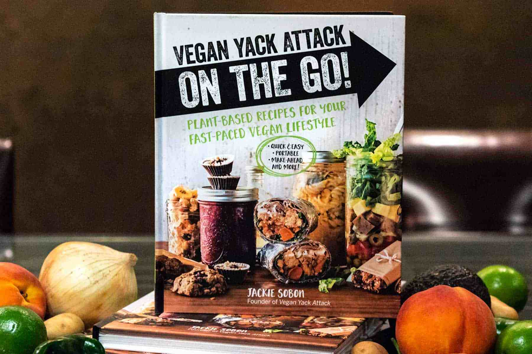 It's here! It's here! The release date of my second cookbook, Vegan Yack Attack On the Go! Quick recipes, make-ahead recipes, lunch, and more.