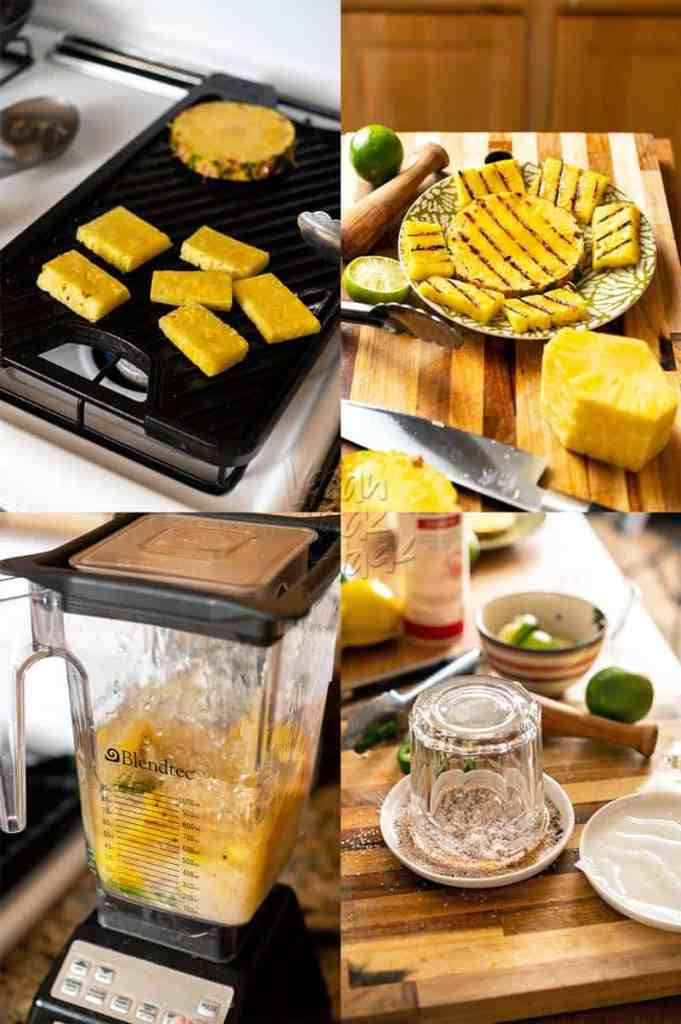 Grilled pineapple for making margaritas