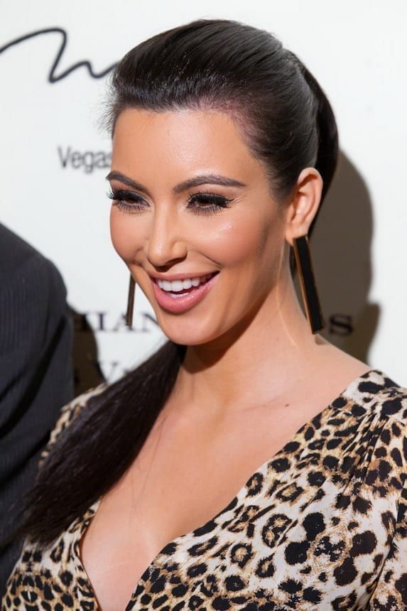 Kim Kardashian pictured at Kardashian Khoas Grand Opening at The Miarge in Las Vegas, NV on December 15, 2011. (C) RD/ Kabik/ Retna Digital