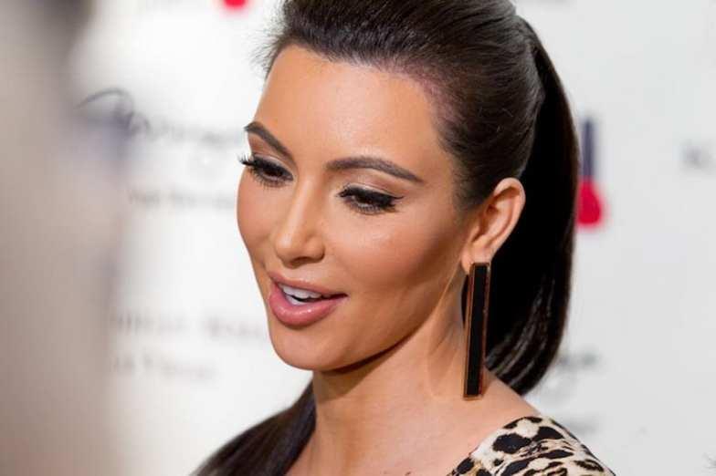 Kim Kardashian pictured at Kardashian Khoas Grand Opening at The Miarge in Las Vegas, NV on December 15, 2011.
