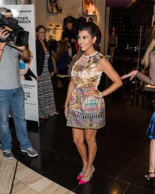 Kourtney Kardashian at KHAOS inside Mirage Hotel