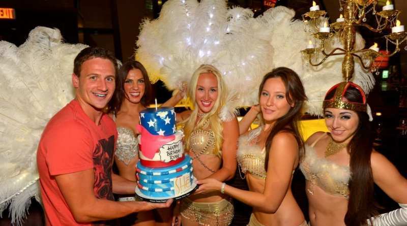 Ryan Lochte at SHe Nightclub