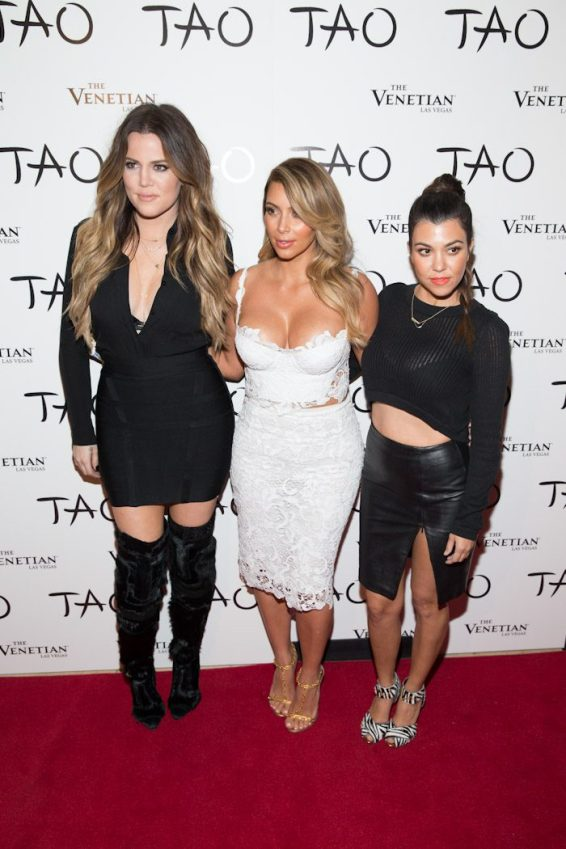 Khloe and Kourtney Kardashian at Kim Kardashian's Birthday at TAO Las Vegas