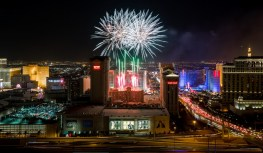 4th of July Fireworks at Caesars Palace in Las Vegas, NV