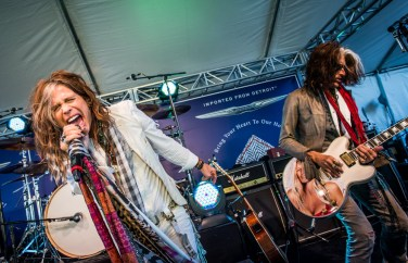 Steven Tyler and Joe Perry perform at John Varvatos Stuart House Benefit in Hollywood, CA