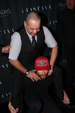Brody Jenner shows off playful side while posing with social media contest winner at Palms Casino Resort.