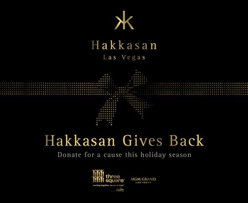 Hakkasan Las Vegas is partnering with Three Square Food Bank