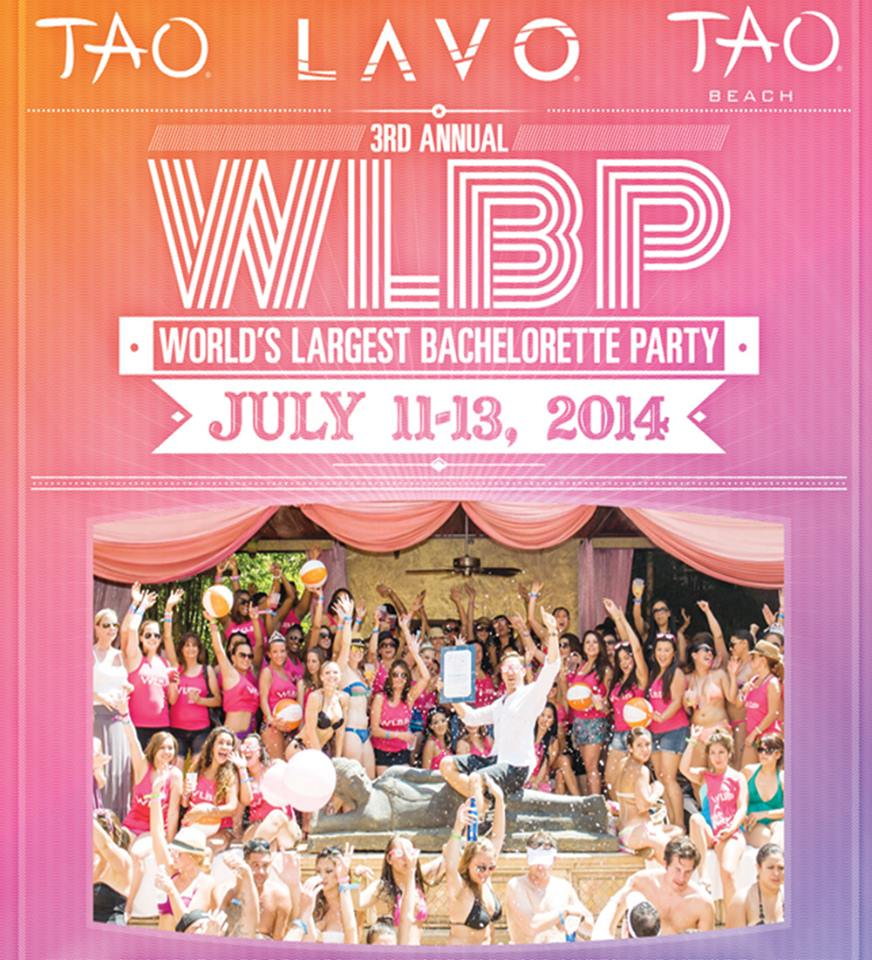 3rd Annual World's Largest Bachelorette Party at TAO Nightclub