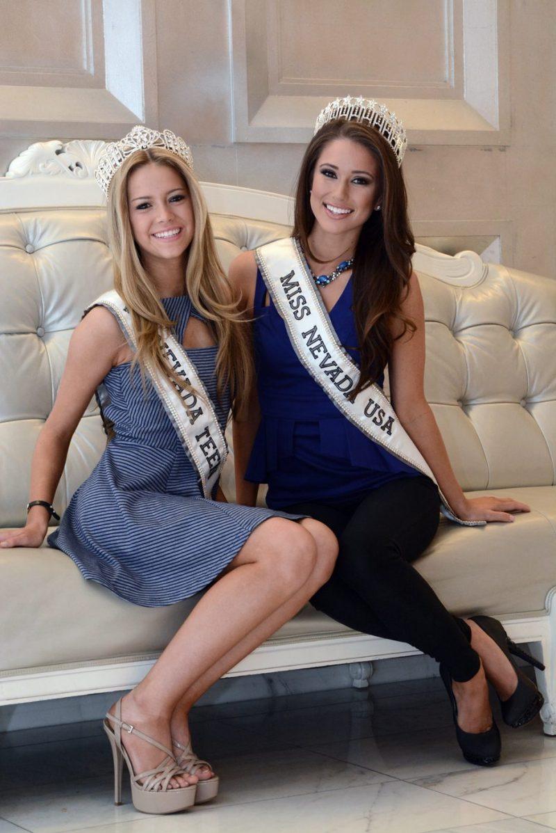 Miss Nevada Teen USA Alexa Taylor and Miss Nevada USA Nia Sanchez