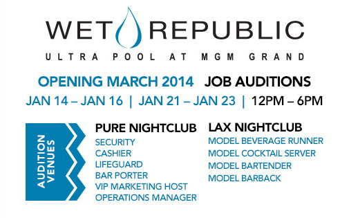 Wet Republic Now Hiring
