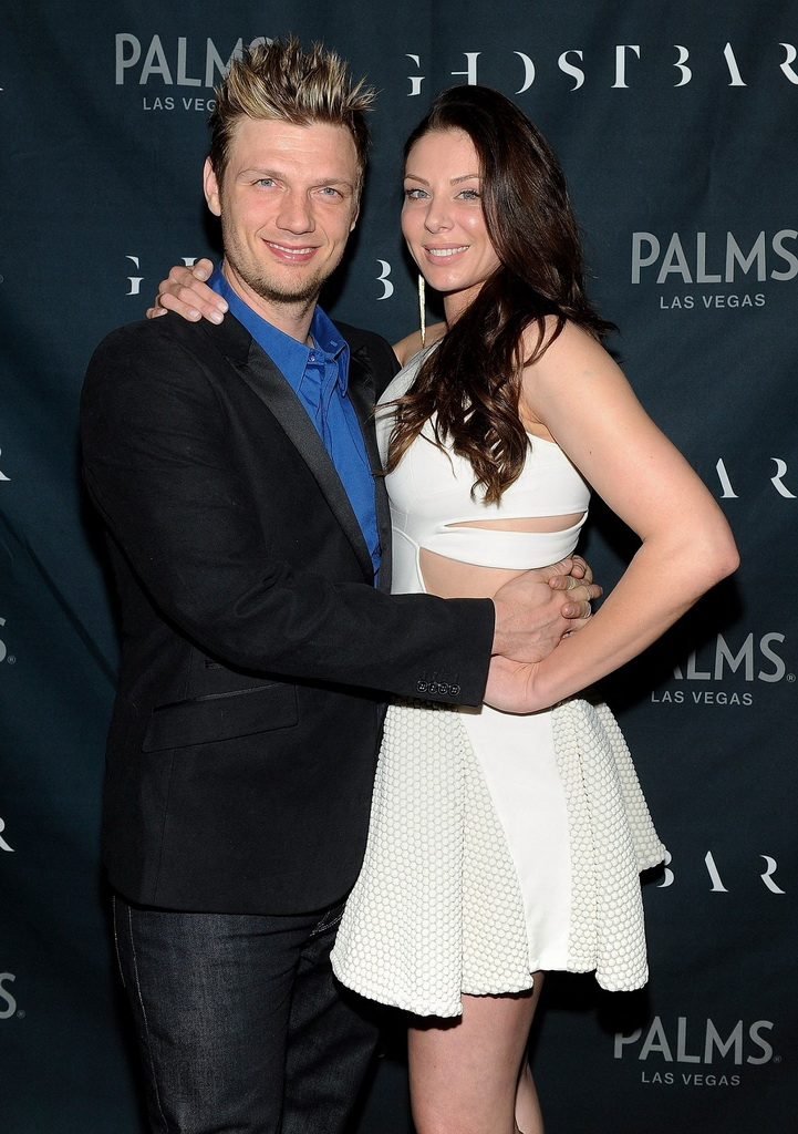 Lauren Kitt and Nick Carter on Ghostbar red carpet (David Becker)