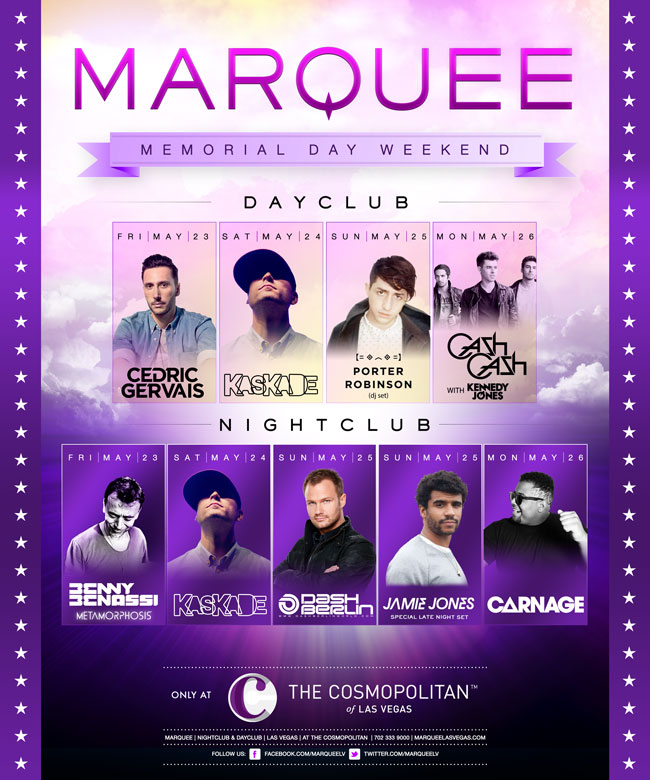 Marquee Las Vegas Memorial Day Weekend