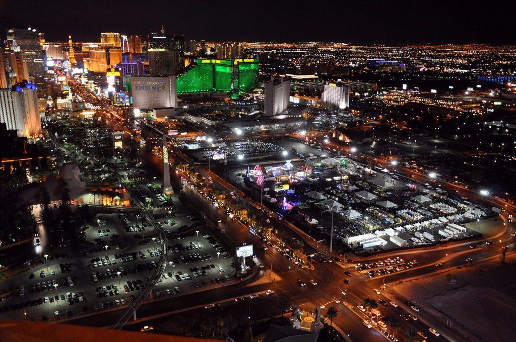 Birdseye view of Las Vegas Foodie Fest on The Strip