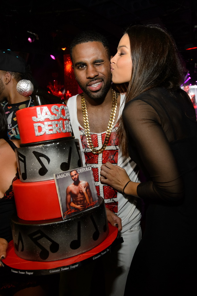 Jason Derulo and Jordin Sparks with Cake at TAO