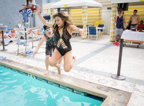 Ally Brooke Hernandez at Planet Hollywood Resort Pool