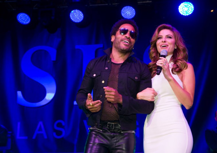 Lenny Kravitz and Maria Menounos at SLS Las Vegas Grand Opening