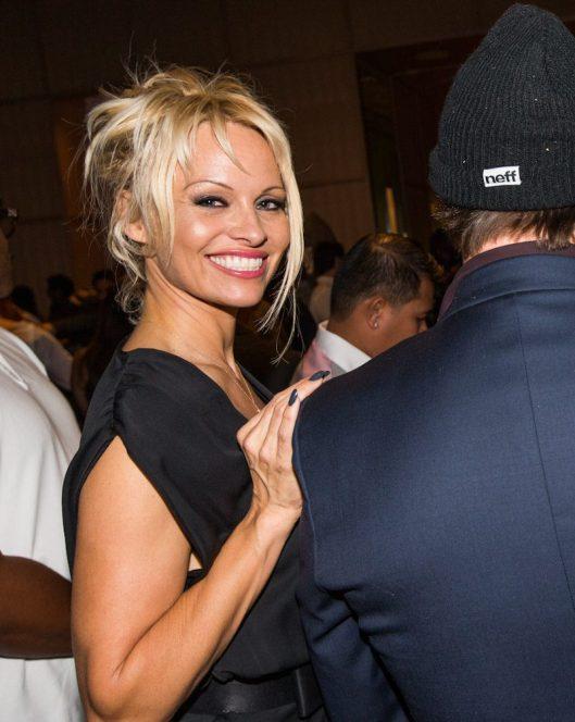 Pamela Anderson at SLS Las Vegas Grand Opening