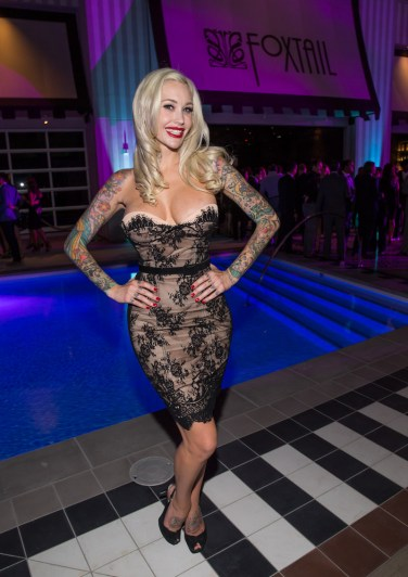Sabina Kelley at SLS Las Vegas Grand Opening