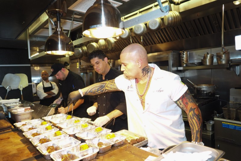 """Chefs to the Max - Matt Andrews, David Wilson and Vic """"Vegas"""" Moea prepare dishes for 'Sunday Supper'"""